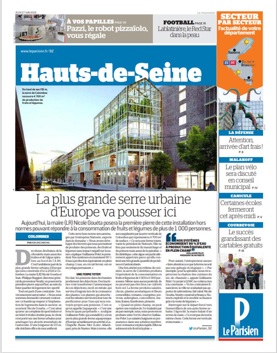 Le Parisien   La plus grande serre urbaine d'Europe va pousser ici